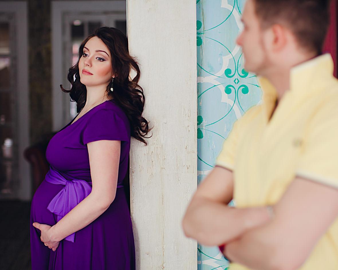 Семейная фотосессия беременности