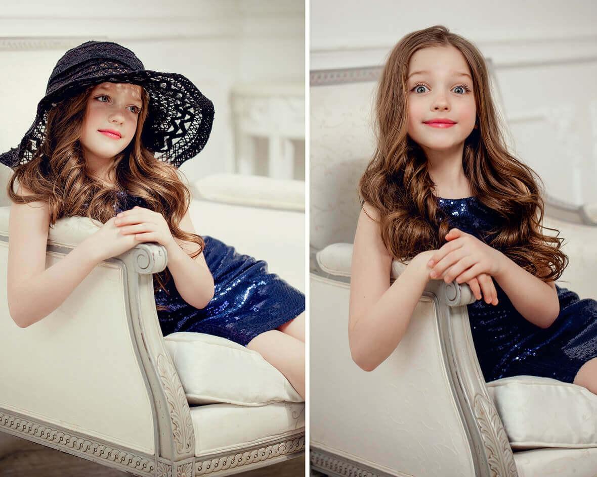 Детская фотосессия в шляпе