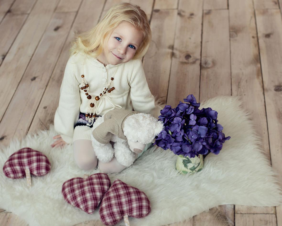 Красивая детская фотосессия