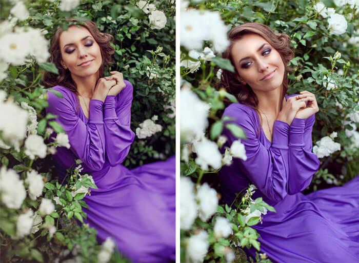 Мария Адоевцева в цветах