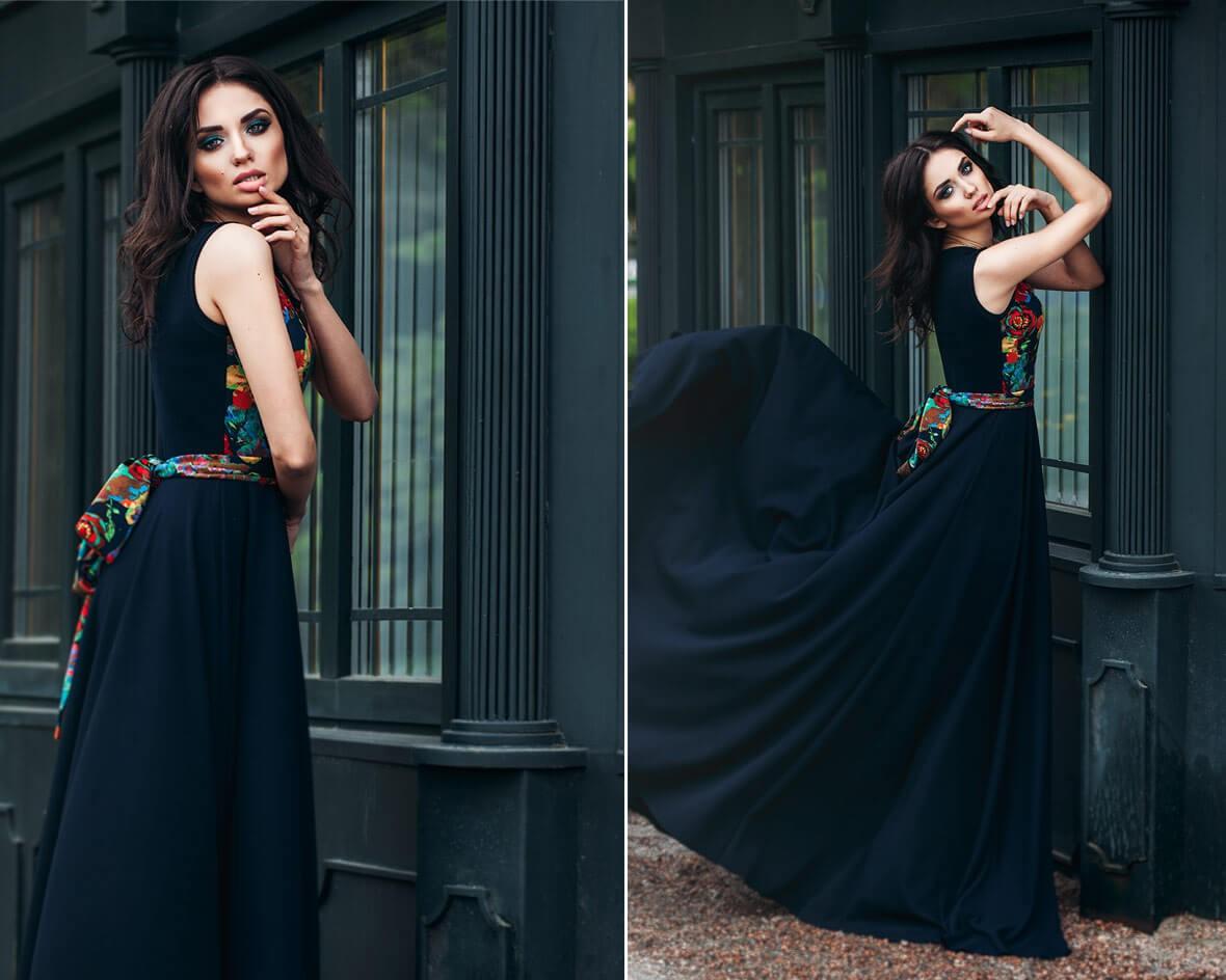 Девушка в темном платье