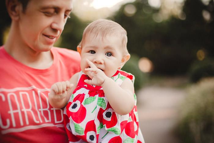 Фото папы с малышкой
