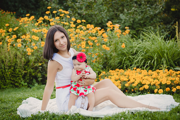 Фото с ребенком на природе