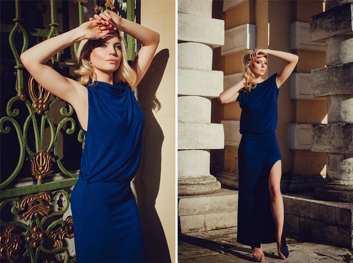 Фотосессия в платье летом