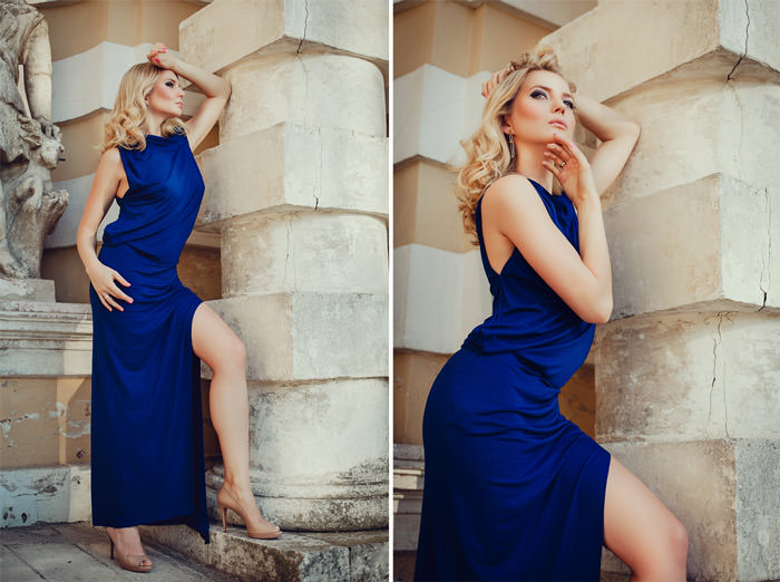 Фотосессия в платье на улице