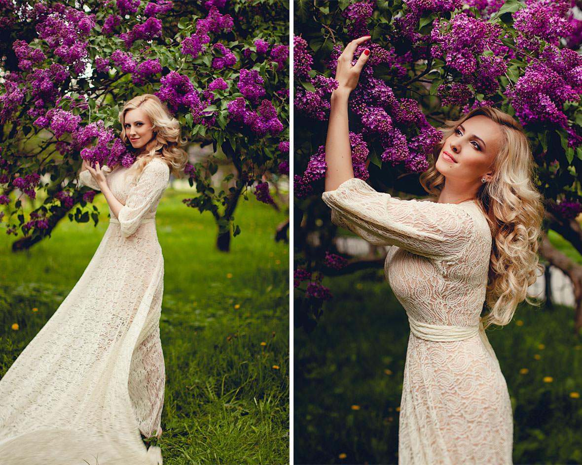 Ольга в цветах сирени