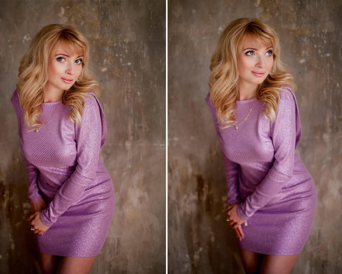 Фотосессия блондинки в студии