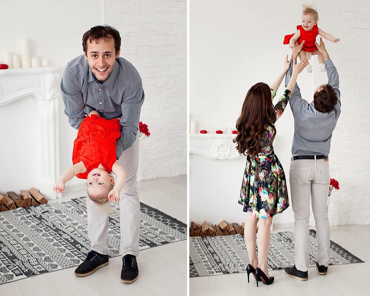 Семья с ребеночком