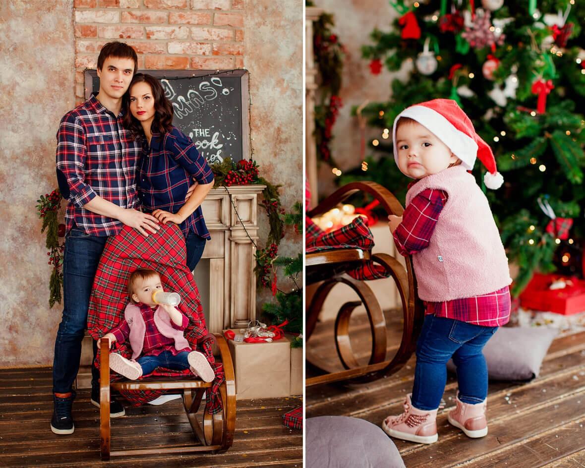 Красивая пара с ребеночком