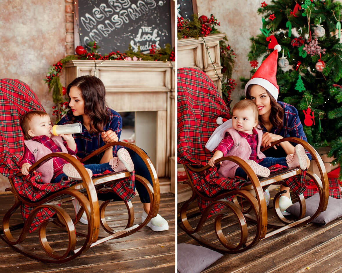 Малышка в кресле-качалке