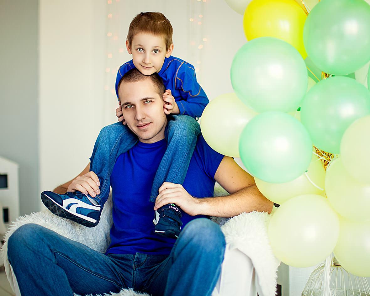 Фотосессия папа с сыном