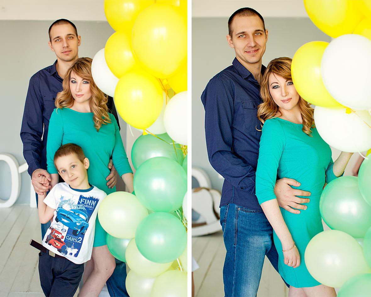 На фотосессию всей семьей