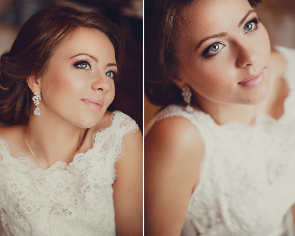 Фото невесты в кружевах