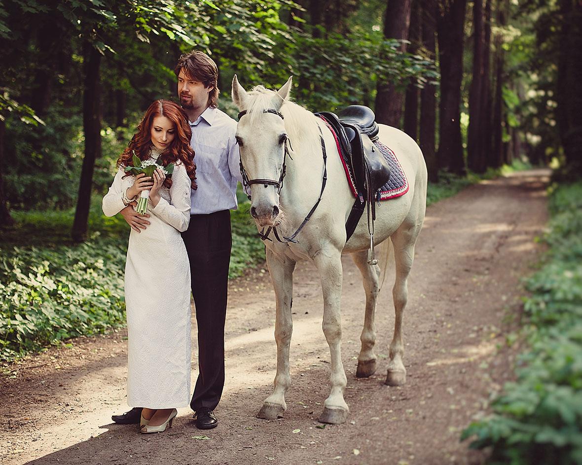 Фотосессия с лошадью летом