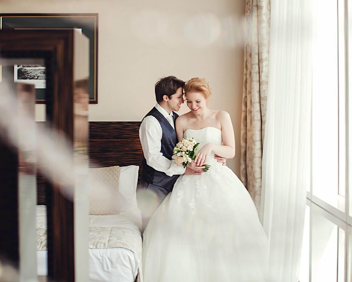 Свадебная фотосессия в помещении