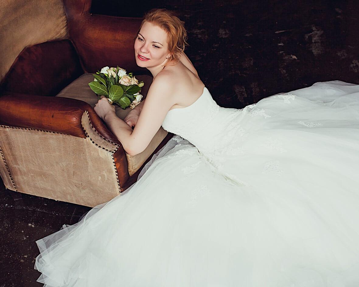 Студийное фото свадьбы