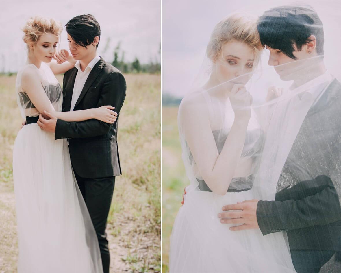Диптих невеста с фатой