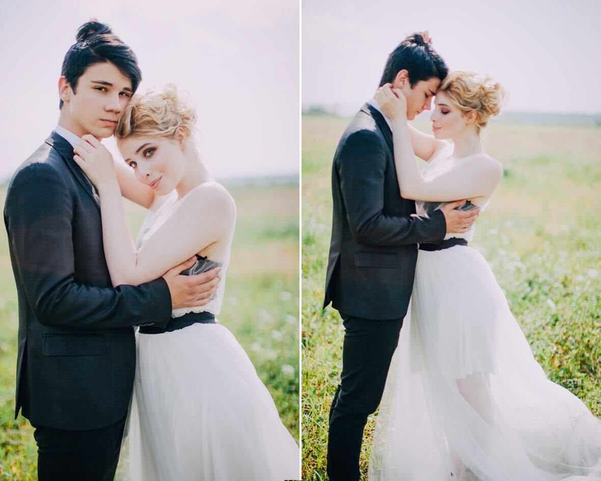 Фотосъемка свадьбы в поле