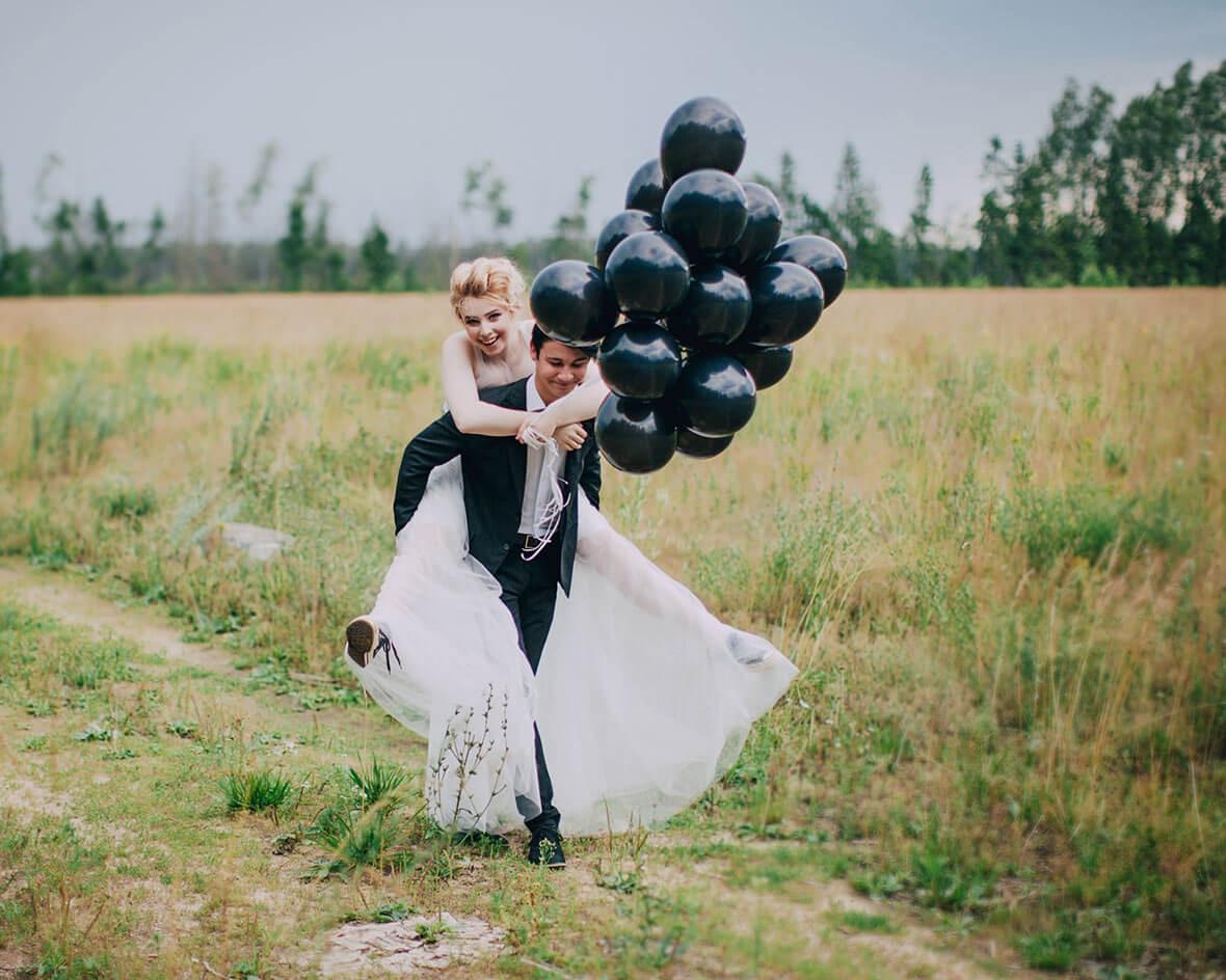 Необычная свадебная фотосессия