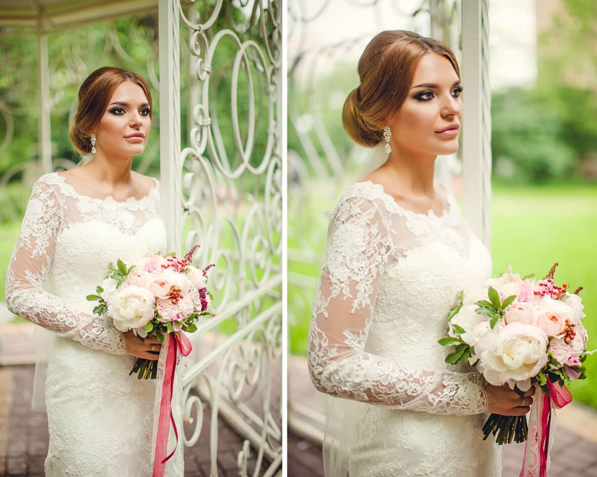 Невеста в беседке