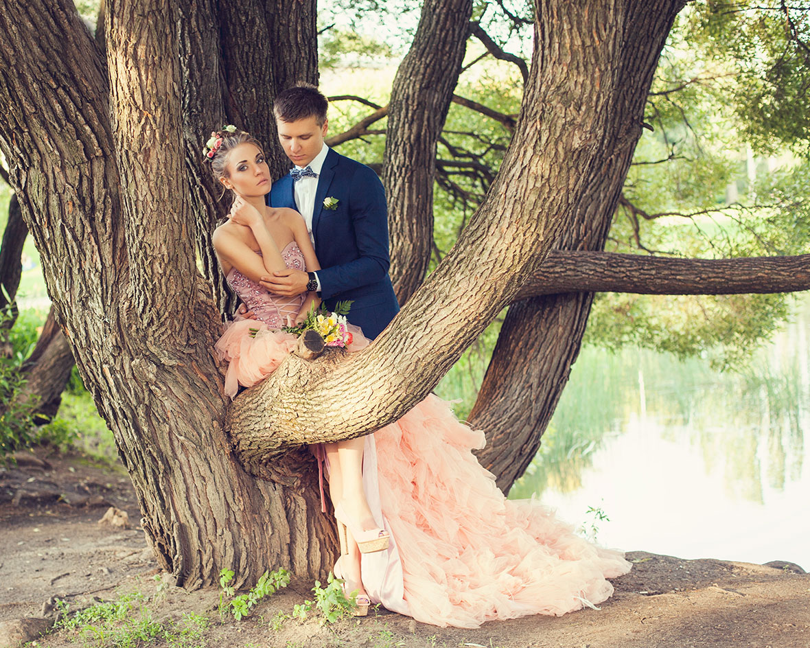 Фото свадебное на природе