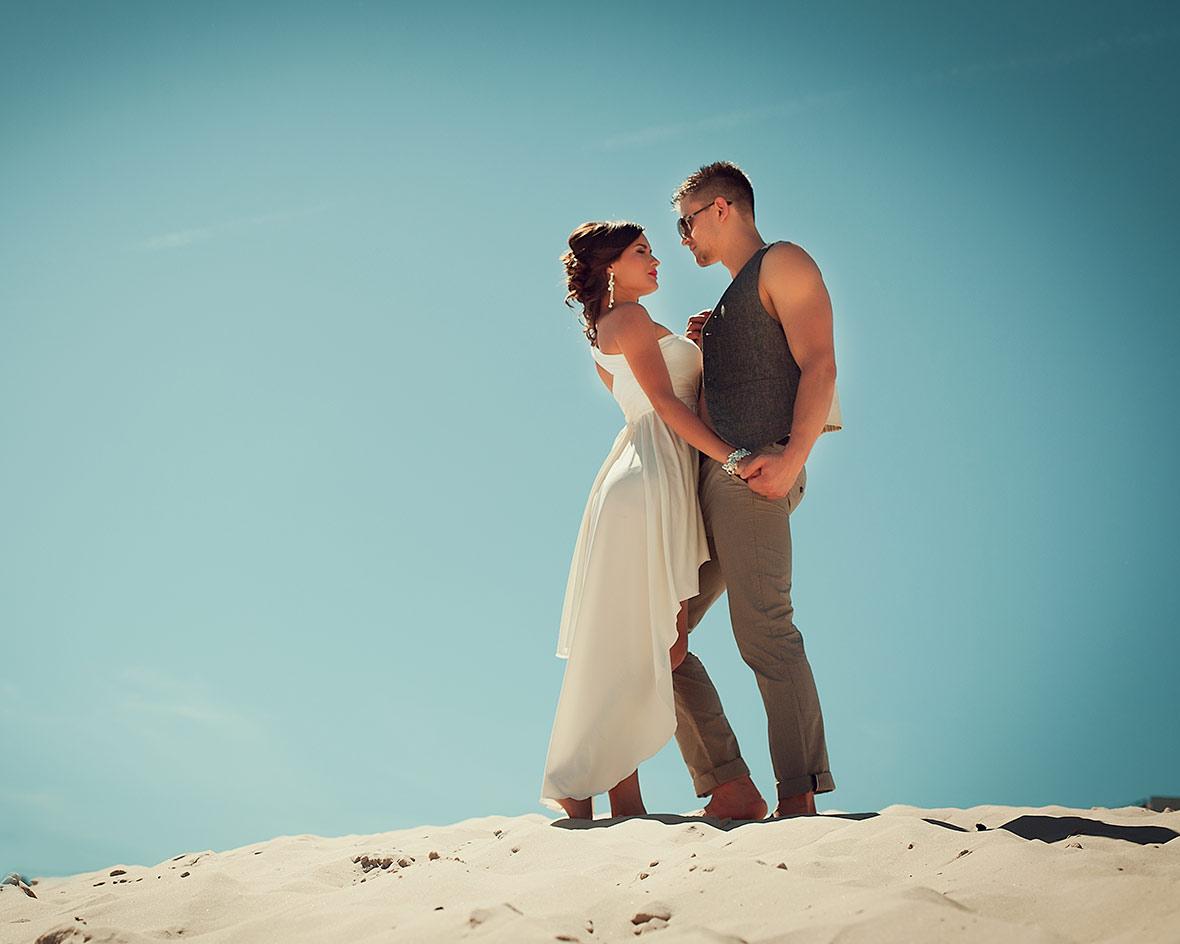 Фотосессия свадьбы на пляже