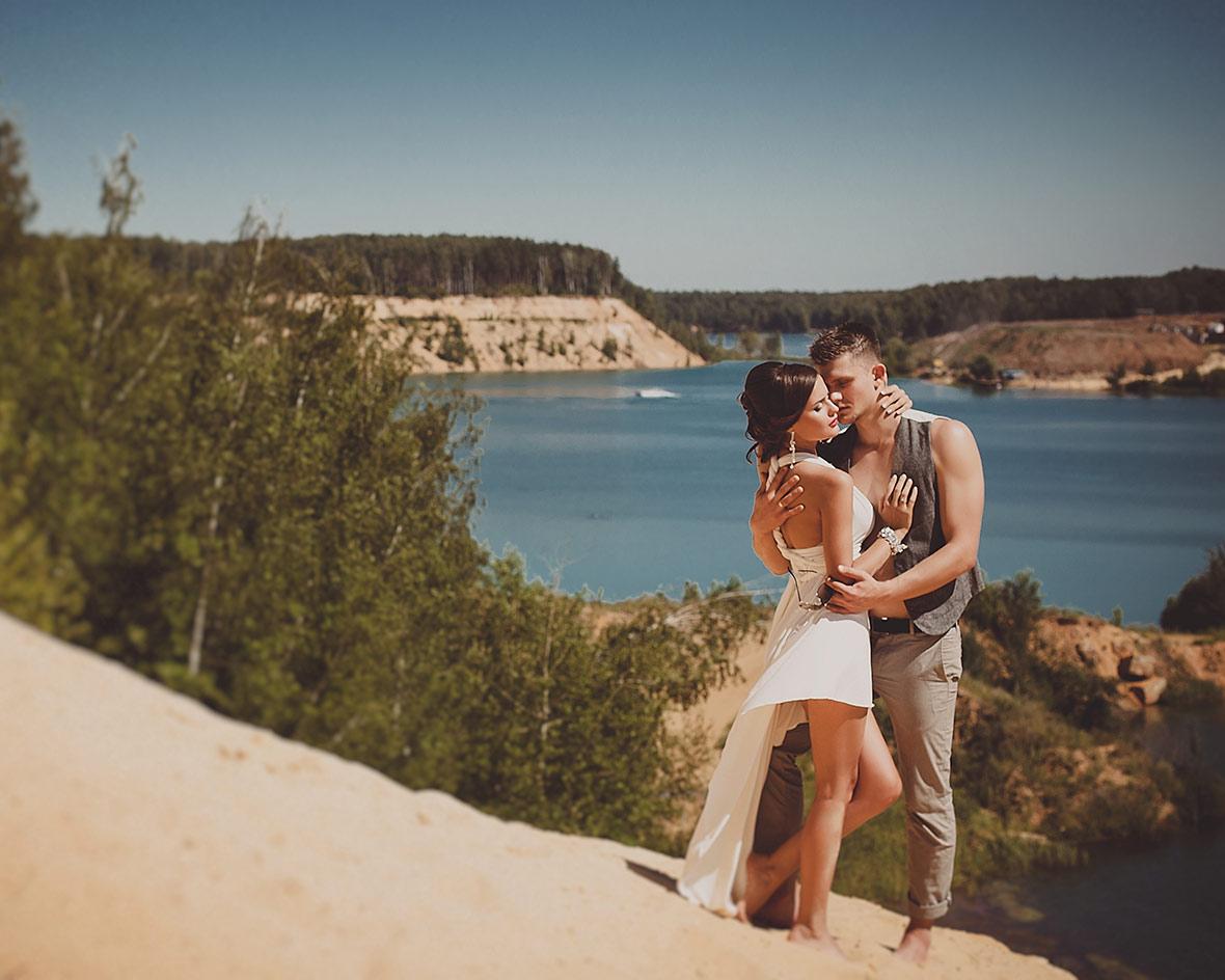 Фото свадьбы на карьере
