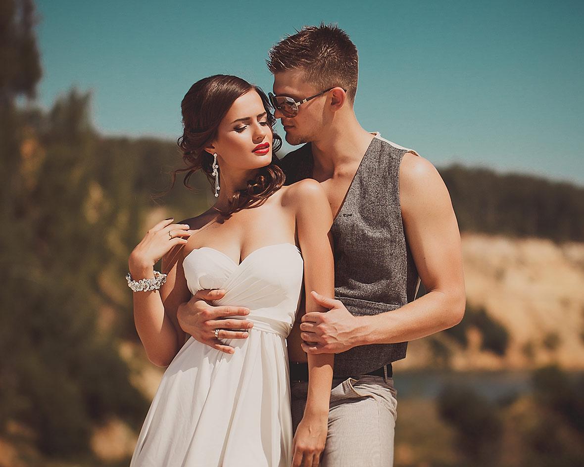 Свадебное фото в жаркий день