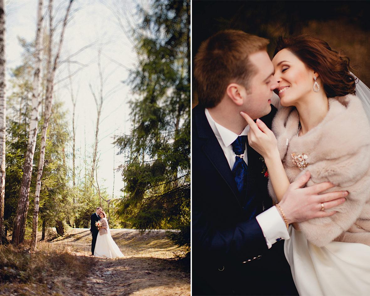 Свадьба на природе диптих