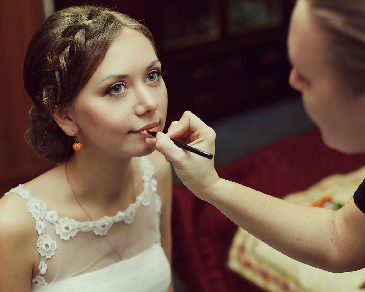 Свадебное фото невесты макияж