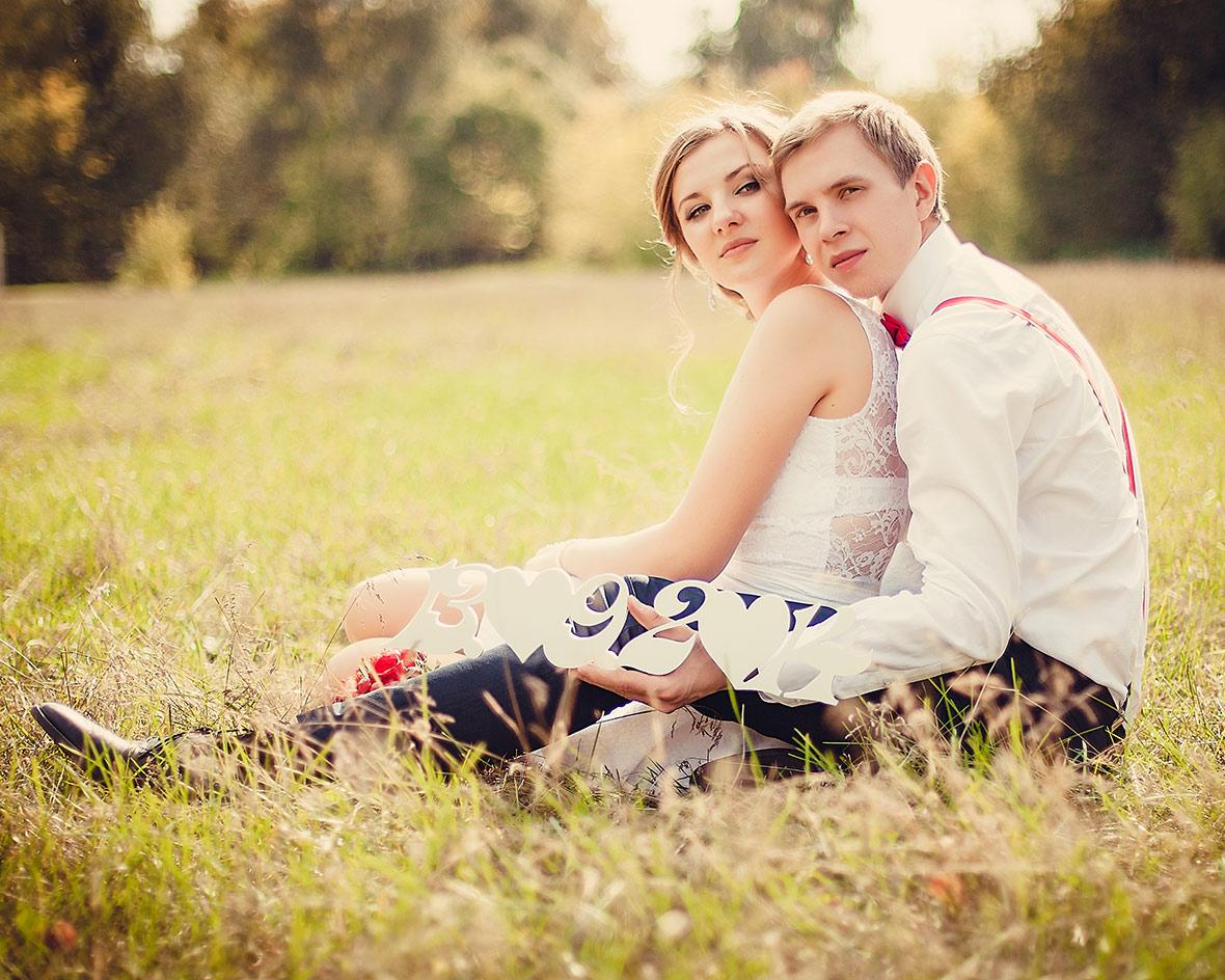 Свадебная фотосессия с атрибутами