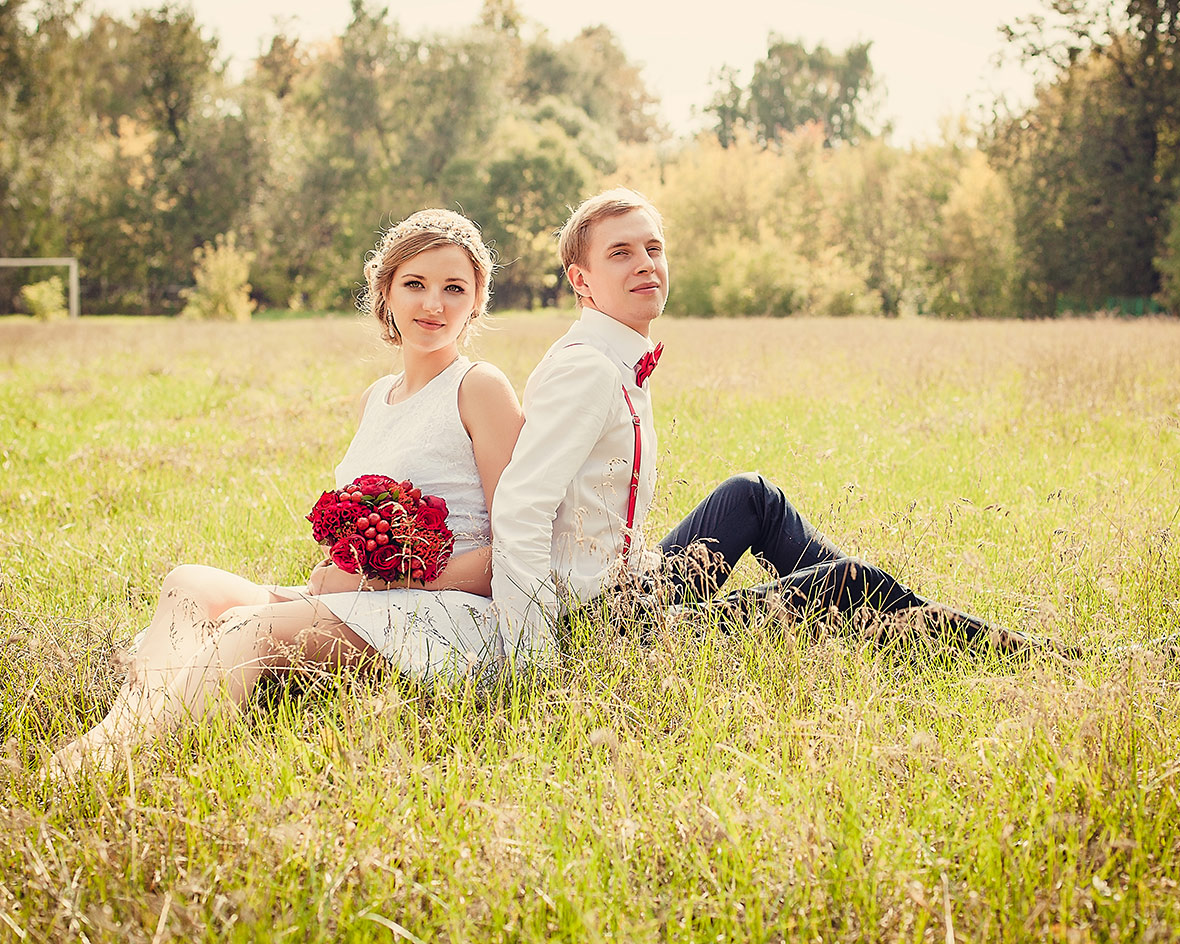 Свадебное фото на природе