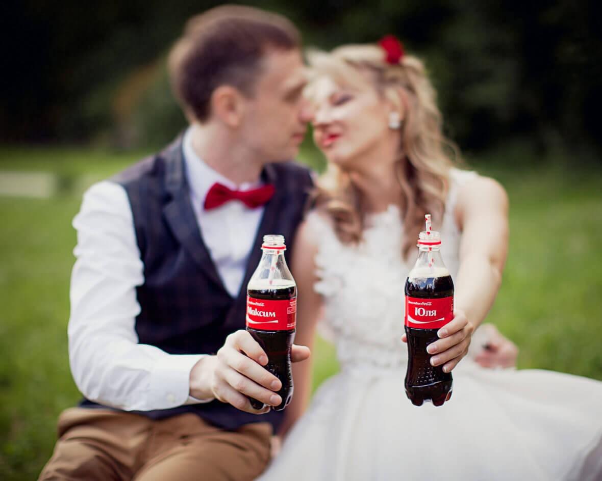 Coca-cola на свадьбе