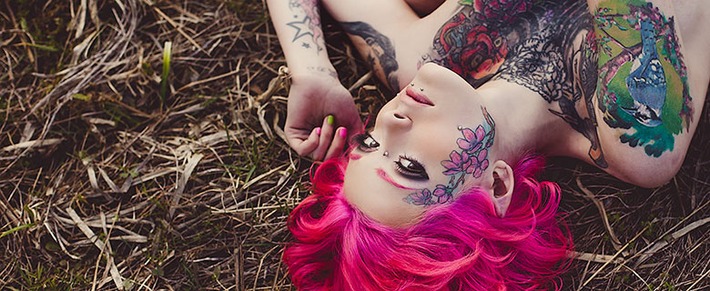 Girl with tatts